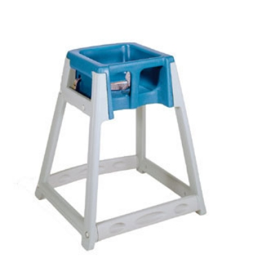 CSL Foodservice & Hospitality 877BLU High Chair Infant Seat w/ Blue Seat, Gray Frame