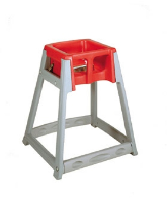 CSL Foodservice & Hospitality 877RED High Chair Infant Seat w/ Red Seat, Gray Frame