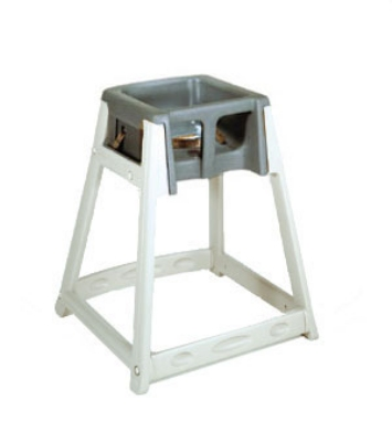 CSL Foodservice & Hospitality 888DGY High Chair Infant Seat w/ Dark Gray Seat, Beige Frame