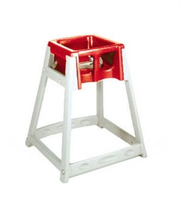 CSL Foodservice & Hospitality 888RED High Chair Infant Seat w/ Red Seat, Beige Frame
