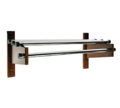 CSL Foodservice & Hospitality TDECR-48 L 48-in Designer Wooden Coat Rack w/ Channel Rod,