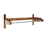 CSL Foodservice & Hospitality TEC24N 24-in Economy Wooden Coat Rack w/ Hanging Rod, Natural Finish