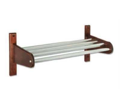 CSL Foodservice & Hospitality TFXCR-38 L 38-in Wooden Coat Rack w/ Interior Metal Top Bars, L