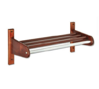 CSL Foodservice & Hospitality TFXWCR-26 L 26-in Wooden Coat Rack w/ Interior Hardwood