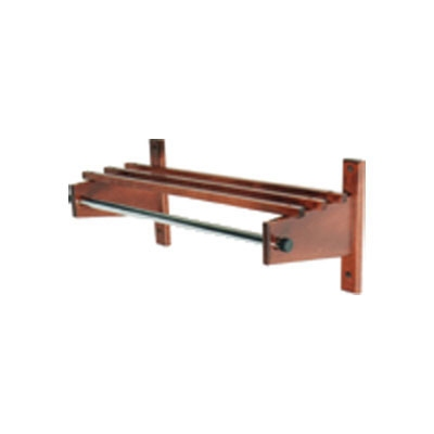 CSL Foodservice & Hospitality TCOCR-36 L 36-in Commander Wooden Coat Rack w/ Channe