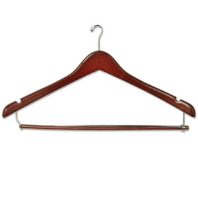 CSL Foodservice & Hospitality THA-66 Mens Executive Suit Hanger w/ Mini Ho