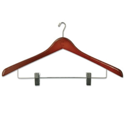 CSL Foodservice & Hospitality THA-66 NMWC W Ladies Executive Suit Hanger w/ Mini Hook