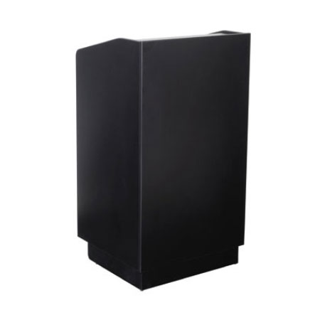 Royal Industries ROY 733 B 46-in Assembled Podium w/ Black Laminated Mel