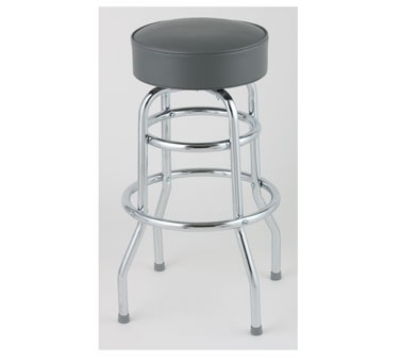 Royal Industries ROY 7712-2 GY Assembled Double Ring Bar Stool
