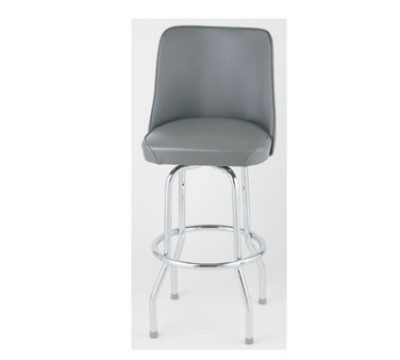 Royal Industries ROY 7721 GY Single Ring Bar Stool w/ Chr