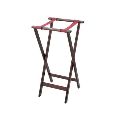 Royal Industries ROY 773 32-in Wood Tray Stand w/ Walnut Finish