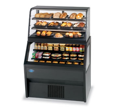 Federal Industries CD4828SS/RSS4SC BLK 48-in Refrigerated Display Merchandiser w/ Self-Serve Bottom, Black