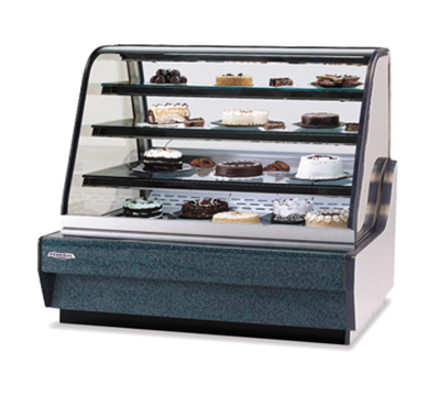 """Federal Industries CGHIS-1 59"""" Full Service Refrigerated Deli Case w/ Curved Glass - (4) Levels, 120v"""
