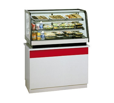 "Federal Industries CRB3628 36"" Countertop Refrigeration w/ Pass Thru Access - Sliding Door, Black, 120v"