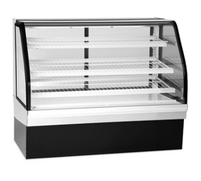 Federal Industries ECGD59 59-in Curved Glass Bakery Case w/ 3-Tier Adjustable Shelves