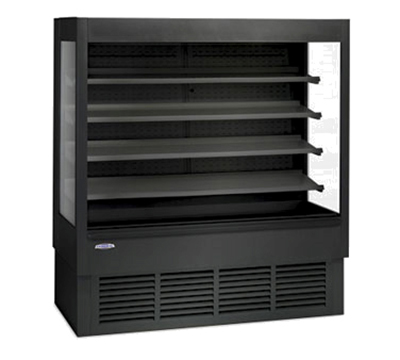 Federal Industries ERSSHP-678SC 72-in Self-Serve Refrigerated Merchandiser w/ Tempered Ends, Black