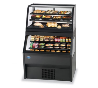 Federal Industries CRR3628/RSS3SC WA 36-in Refrigerated Display Merchandiser w/ Service Top, Walnut