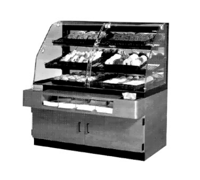 "Federal Industries BPFD-54SS BLK 39"" Full Service Dry Bakery Case - (2) Wire Rack, 120v"