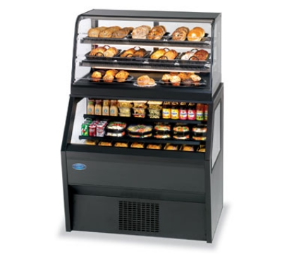 Federal Industries CD4828/RSS4SC NO 48-in Refrigerated Display Merchandiser w/ Service Top, Natural Oak