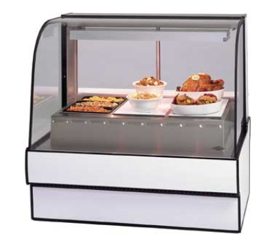 Federal Industries CG5048HD WA 50-in Curved Glass Hot Deli Case w/ 3-Wells, Walnut