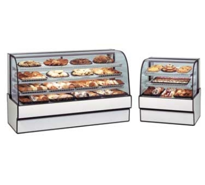 Federal Industries CGD7748 NO 77-in Curved Glass Non-Refrigerated Bakery Case, Natural Oak