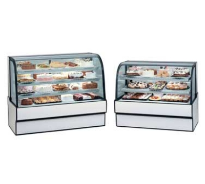 Federal Industries CGR3642 NO 36-in Curved Glass Refrigerated Bakery Case w/ 2-Tier Shelf, Natural Oak