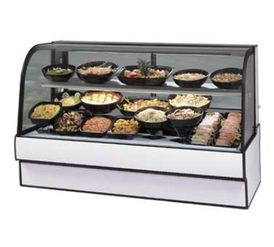 Federal Industries CGR3648CD CH 36-in Curved Glass Refrigerated Deli Case w/ Rear Wrap Board, Cherry