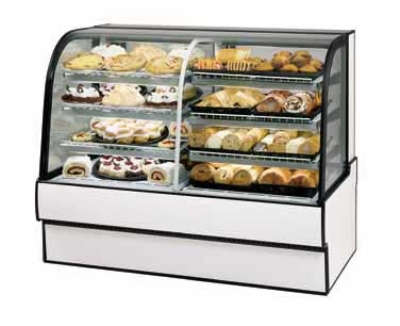 Federal Industries CGR5042DZ WA 50-in Vertical Dual Zone Refrigerated Bakery Case w/ Curved Glass, Walnut
