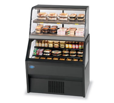 Federal Industries CH4828/RSS4SC BLK 48-in Refrigerated Merchandiser w/ Hot Service Top, Black