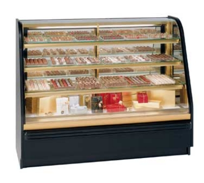 Federal Industries FCCR-5 60-in Chocolate Confectionary Refrigerated Case w/ Vent, Black