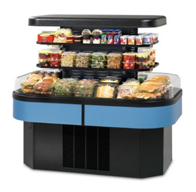 Federal Industries IMSS60SC-3 60-in Island Self-Serve Refrigerated Merchandiser w/ 3-Tier Shelves