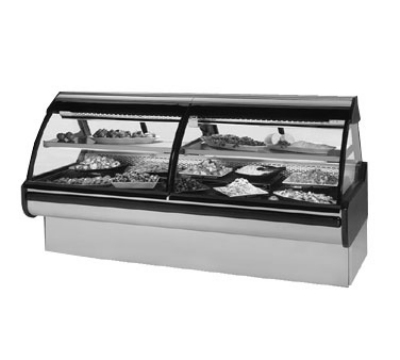 Federal Industries MCG-1054-DC CH 122-in Curved Glass Refrigerated Deli Case, Cherry