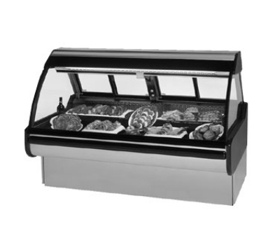 Federal Industries MCG-1054-DM CH 122-in Curved Thermopane Glass Refrigerated Deli Case, Cherry