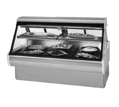 Federal Industries MSG-854-DC BLK 98-in  Refrigerated Sloped Thermopane  Glass Case, Black