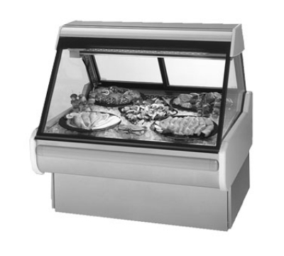 Federal Industries MSG-854-DF WA 98-in Sloped Thermopane Glass Refrigerated Seafood & Fish Deli Case, Walnut