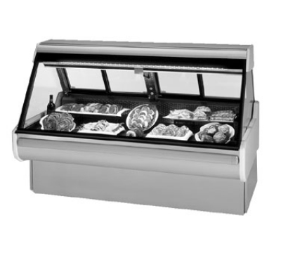 Federal Industries MSG-854-DM SS 98-in  Refrigerated Sloped Thermopane Glass Deli Case, Stainless