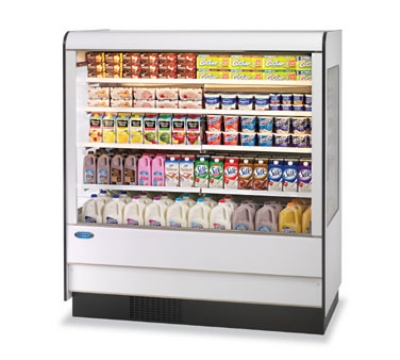 Federal Industries RSSD-678SC WA 71-in Refrigerated Self-Serve Dairy Display Merchandiser, Walnut