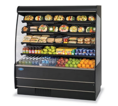 Federal Industries RSSM-378SC NO 36-in Self-Serve Refrigerated Display Merchandiser w/ 4-Tiers, Natural Oak