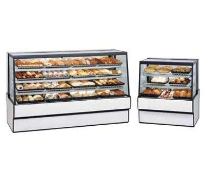 Federal Industries SGD3642 BLK 36-in Bakery Case w/ Sloped Thermopane Tilt-Front Glass, Black