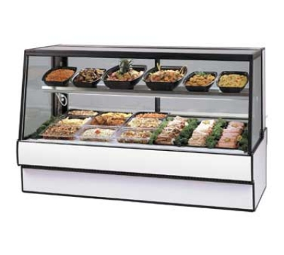 Federal Industries SGR3648CD BLK 36-in Sloped Thermopane Glass Refrigerated Deli Case, Black