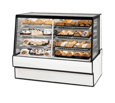Federal Industries SGR5948DZ NO 59-in Vertical Dual Zone Sloped Glass Bakery Case, Natural Oak