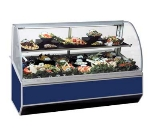 Federal Industries SN-8CD BLK 96-in Refrigerated Curved Deli Case w/ Rear Wrap Board, Black