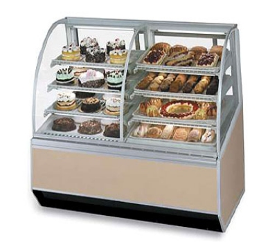 Federal Industries SN59-3SC CH 59-in Vertical Dual Zone Bakery Case w/ Adjustable Control, Cherry