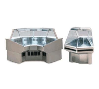 Federal Industries SQROC45R BLK 50-in Curved Lift-Up Corner Deli w/ Rear Cutting Board, Black