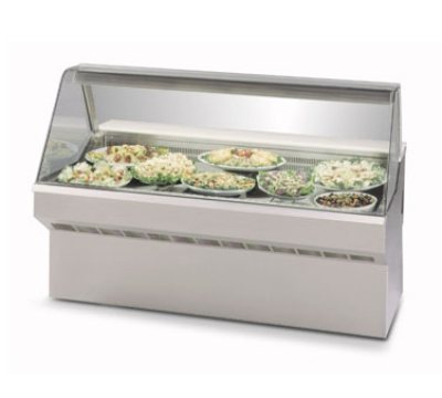 Federal Industries SQ-6CD NO 72-in Refrigerated Curved Deli Case w/ Solid State, Natural Oak
