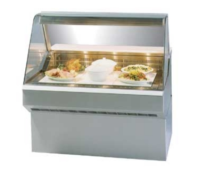 Federal Industries SQ-3HD NO 36-in Hot Curved Deli Case w/ 2-Wells, Solid State, Natural Oak