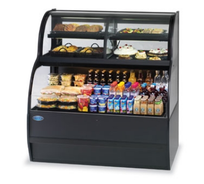 Federal Industries SSRC7752 230 77-in Self-Serve Merchandiser w/ Convertible Top, Black, Export