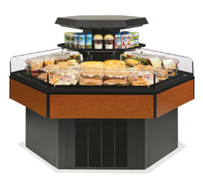 Federal Industries HXISS60SC Hexagon Island Self-Serve Refrigerated Merchandiser, 61 x 70