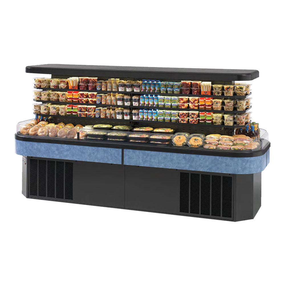 Federal Industries IMSS120SC-3 Display Island Self-Serve Refrigerated Merchandiser, LED Lighting, 120x40x62-in