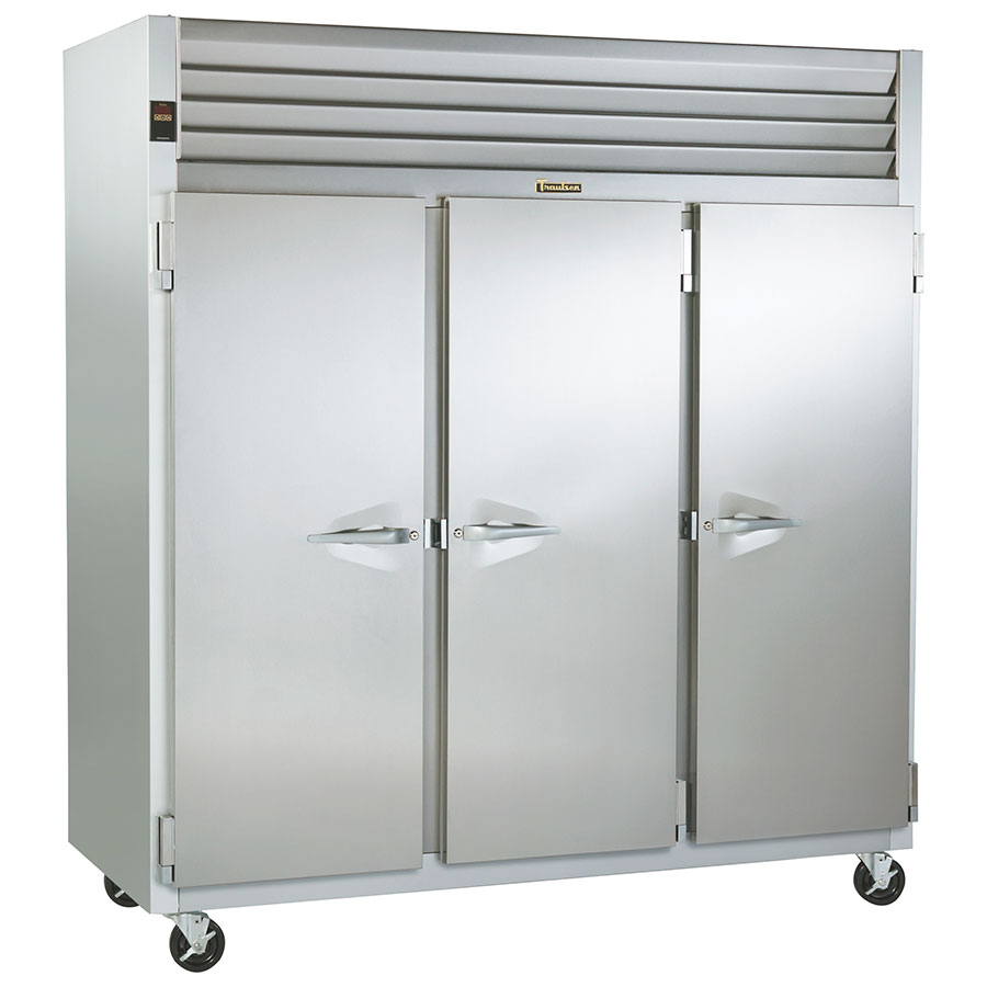Traulsen G30010 Refrigerator - Reach In, Microprocessor Control, 3-Solid Full Doors, Stainless Steel